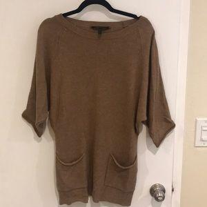 BCBGMaxAzria Tan Short Sleeved Sweater